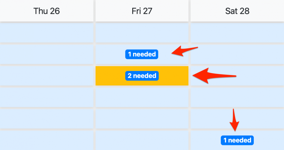 Needed hours on Schedule page